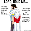 Jesus will hold you clip art - power point background