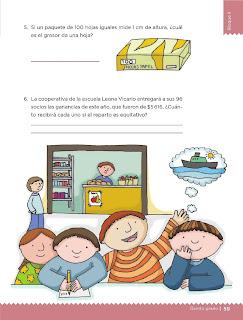 Apoyo Primaria Desafíos Matemáticos 5to. Grado Bloque II Lección 24 En partes iguales