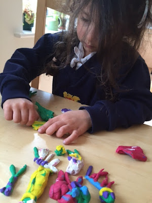 Child playing with modelling clay