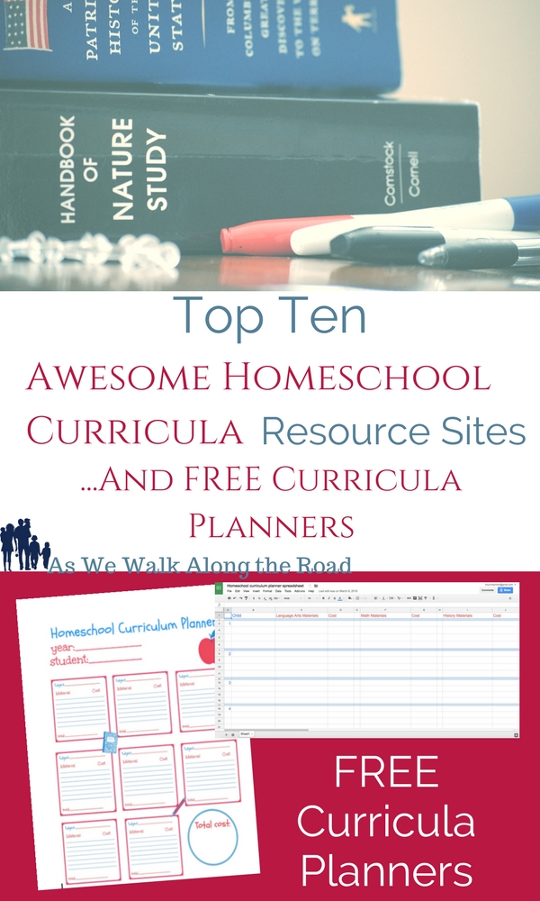 Great places to shop for homeschool curriculum and free homeschool curricula planners