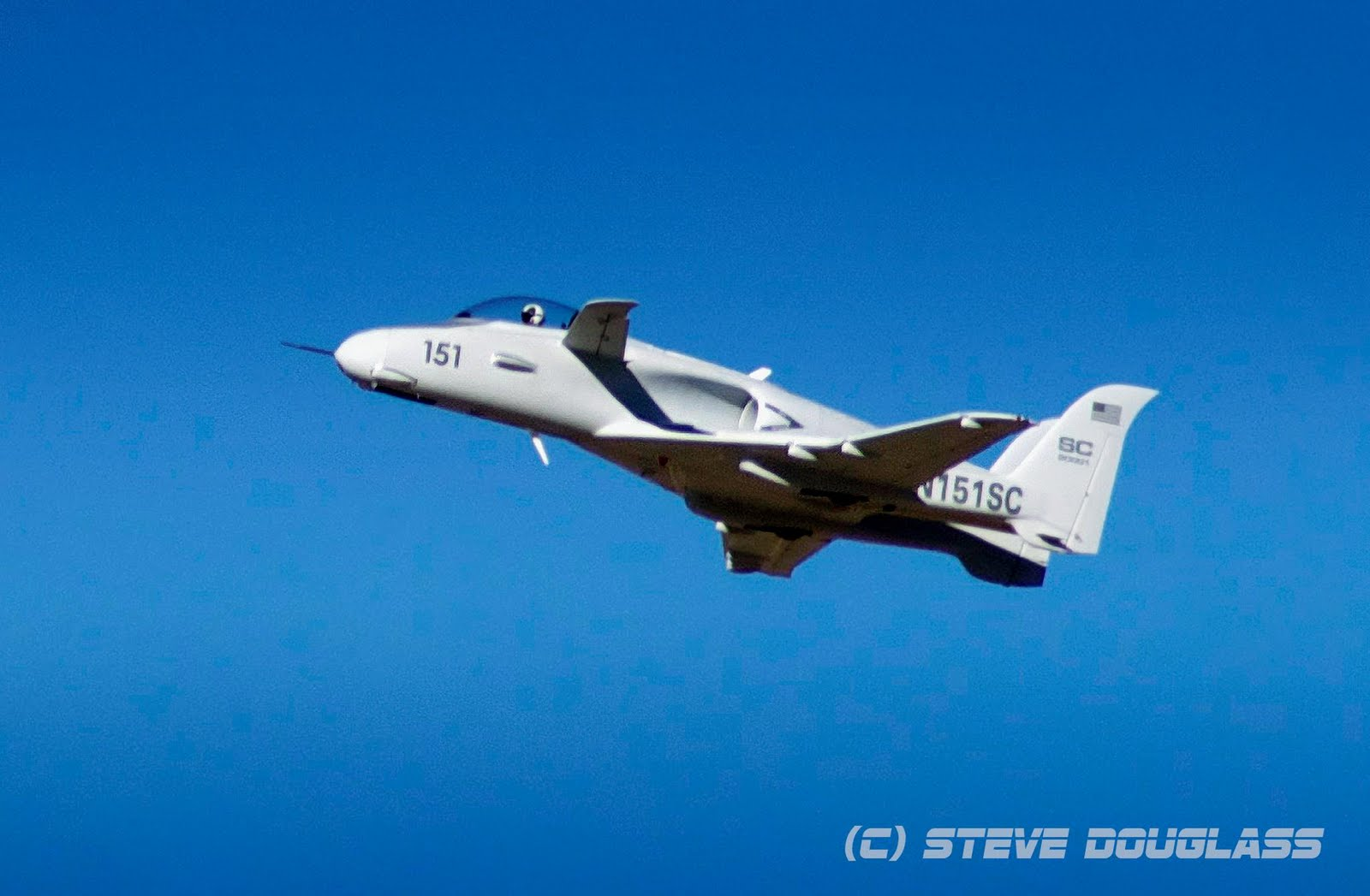 Black Horizon: Rare Scaled Composites ARES 151 jet stops ...