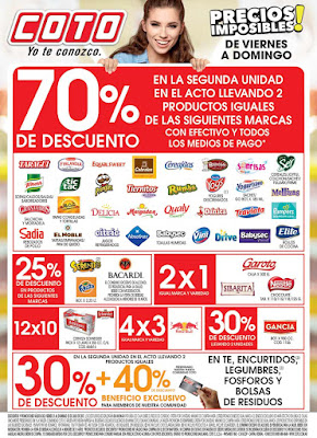 ofertas supermercados COTO fin de semana