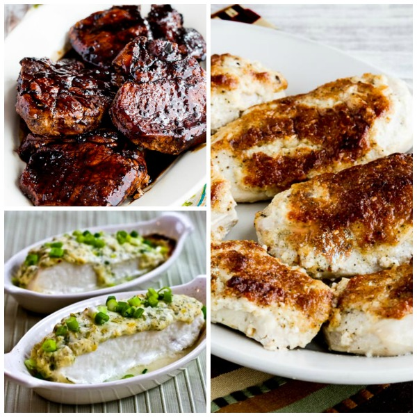 Six Low-Carb Dinner Menus for Valentine's Day or Dinner Guests [featured for Low-Carb Recipe Love on KalynsKitchen.com.]
