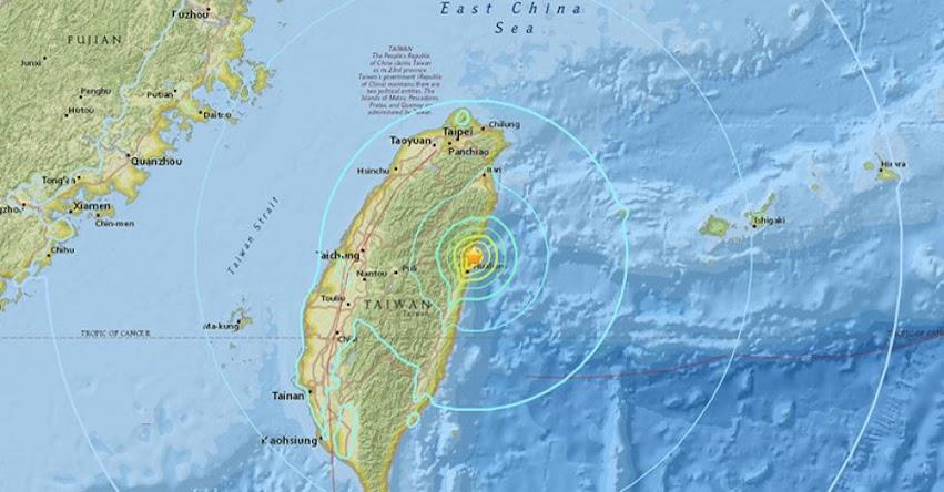 TERREMOTO EN TAIWAN - CHINA de magnitud 6,1 - Alerta de Tsunami (Hoy Domingo 4 Febrero 2018) Sismo Temblor EPICENTRO - Hualian - USGS