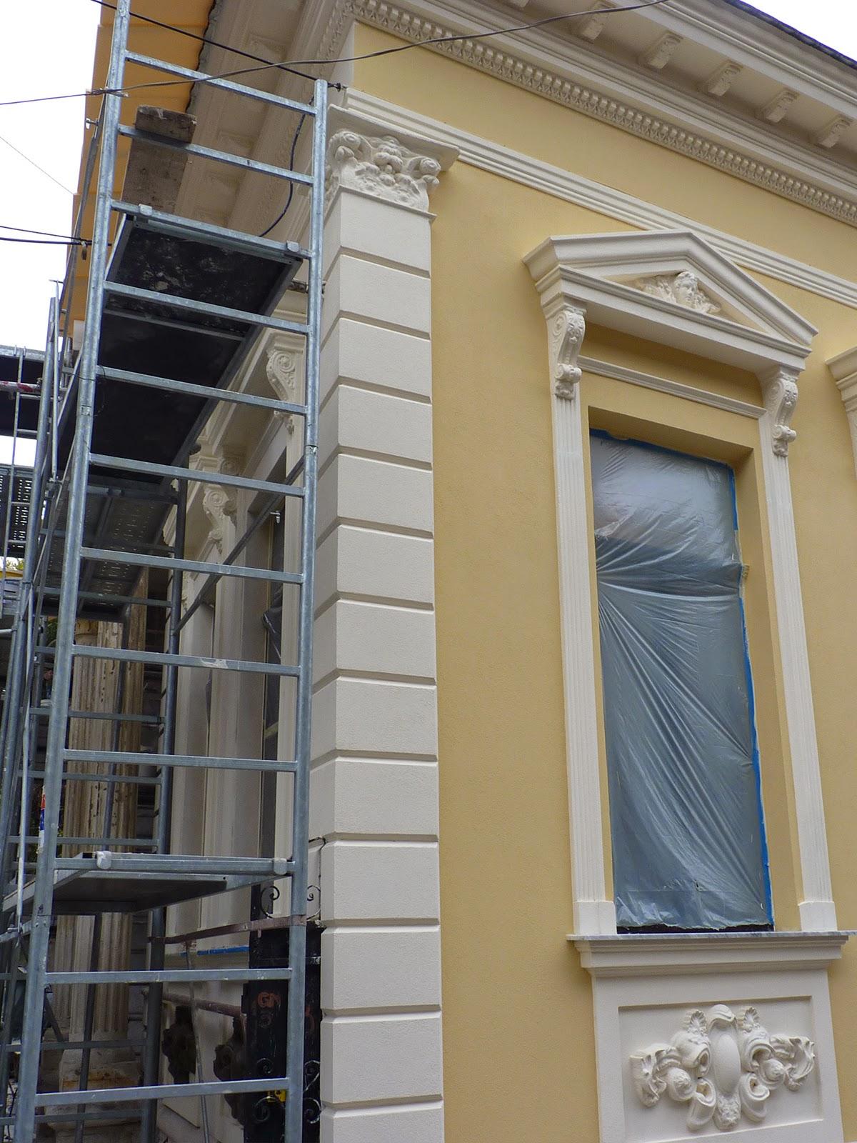 montare profile polistiren, montare ferestre cu fronton