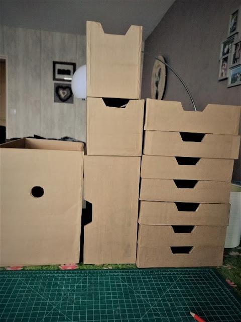 tiroirs en carton avec kraft gommé