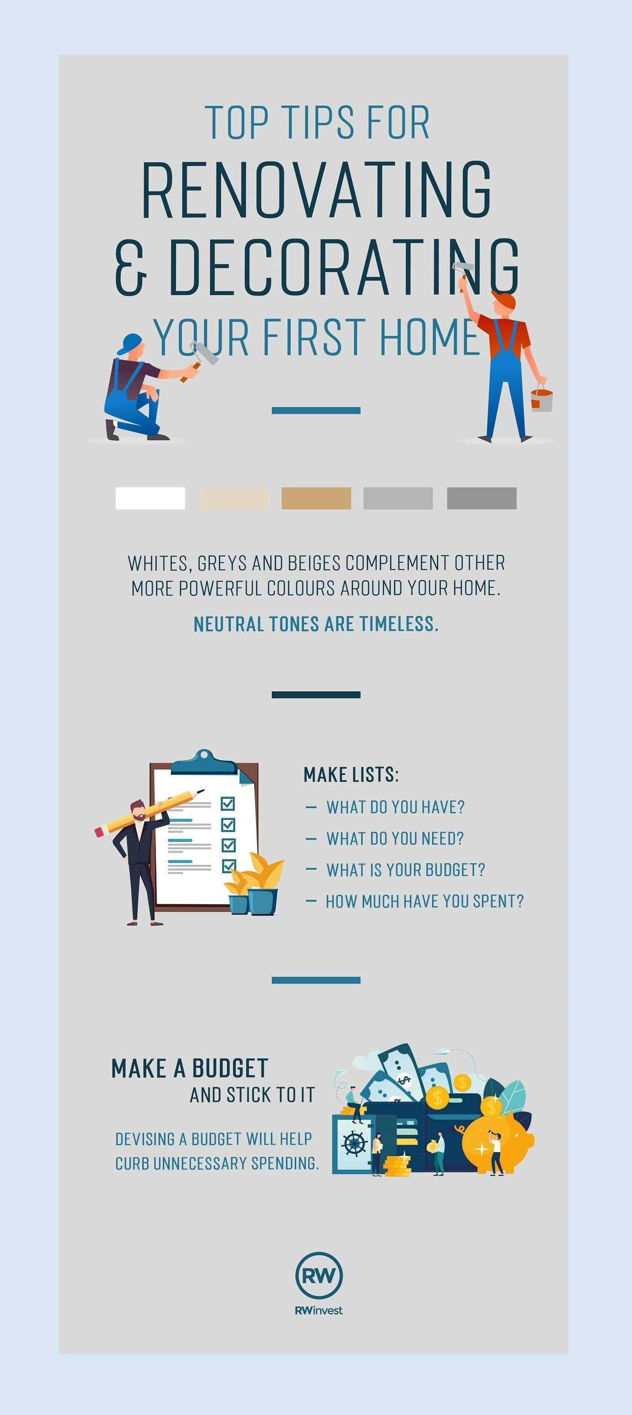 tips-for-renovating-decorating-your-first-home-infographic