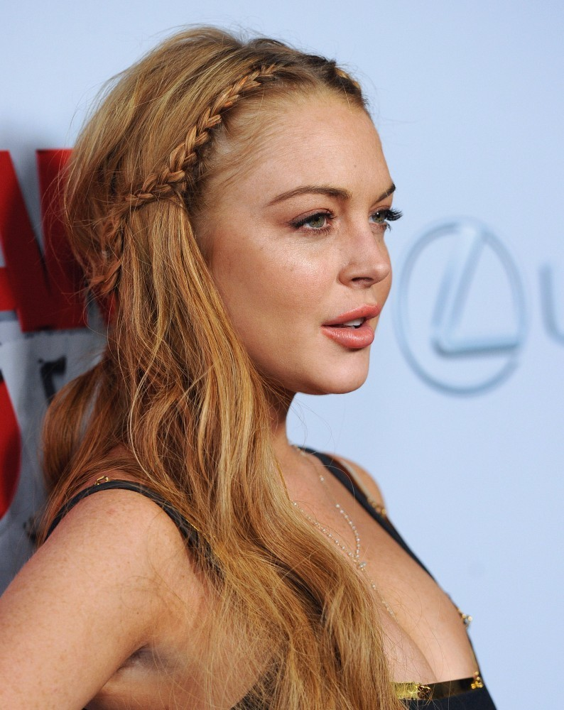 Actresses Lindsay Lohan Scary Movie 5 Premiere