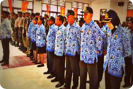 Pegawai di Kabupaten Waropen Peringati HUT Korpri di Ruang Pertemuan Nonomi