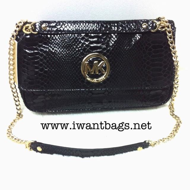 ac8d085568bf ... sale michael kors fulton black python embossed leather shoulder flap  bag c9e7f 4515f ...