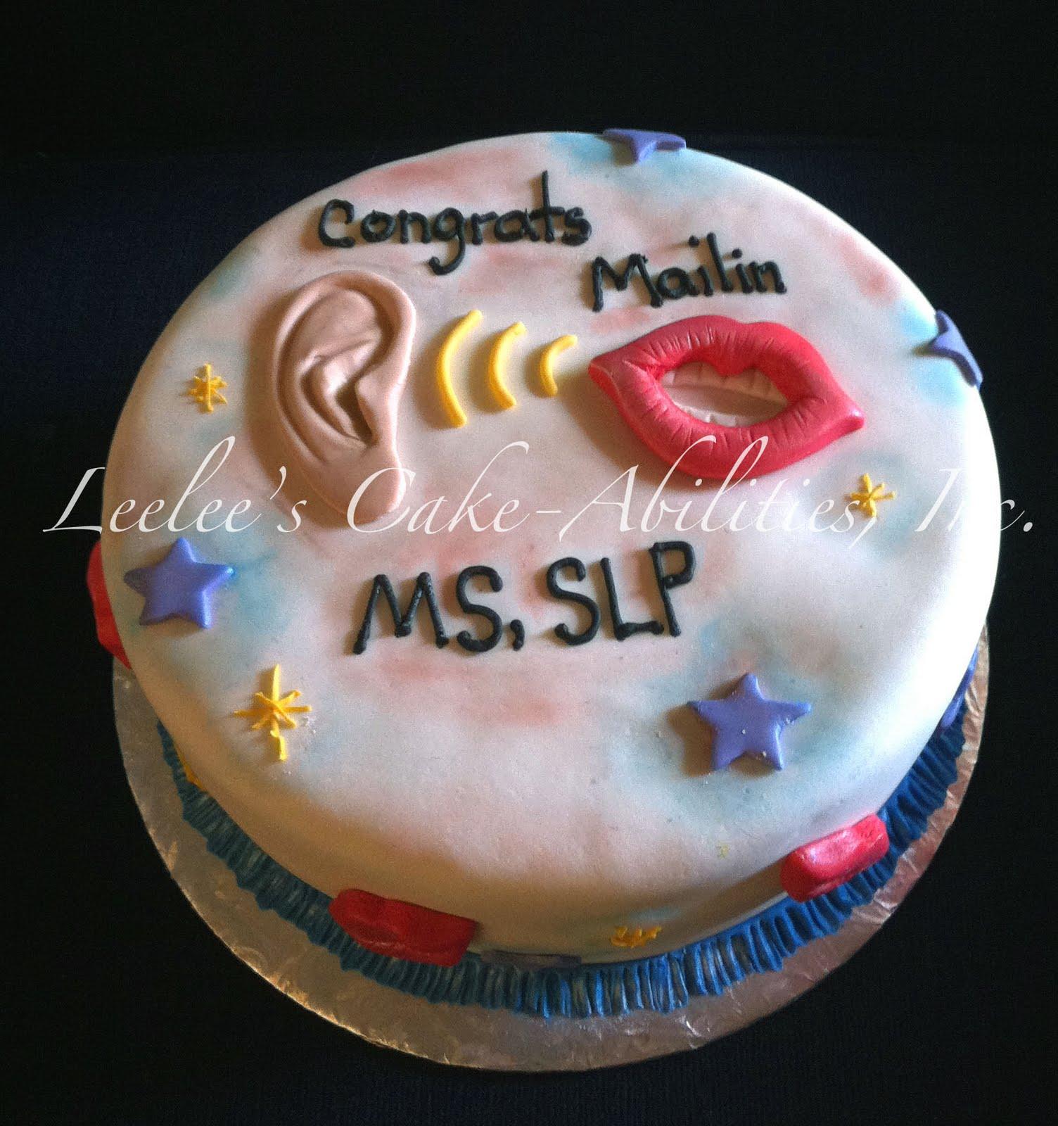 Leelees Cakeabilities Speech Language Pathology Cake