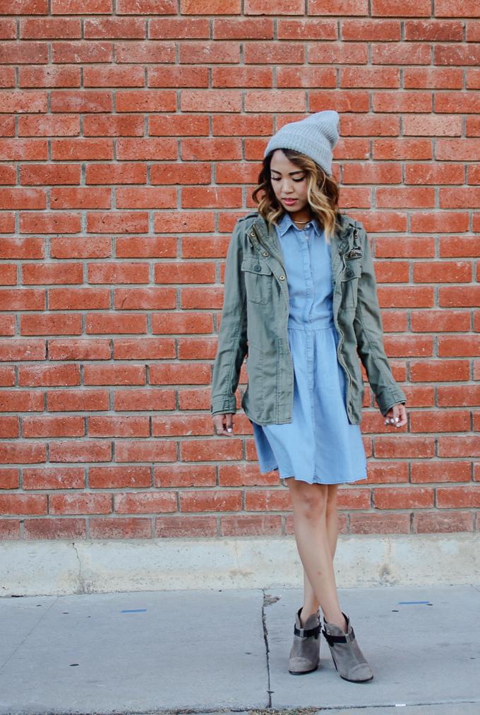 Summer To Fall Lookbook Denim Dress