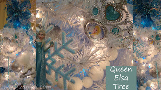 christmas xmas tree decorating queen elsa frozen