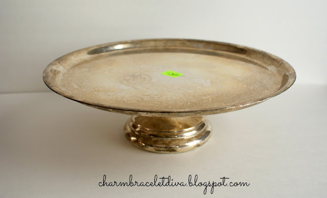 vintage silver plate cake stand