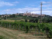 San Gimignano sulla via francigena