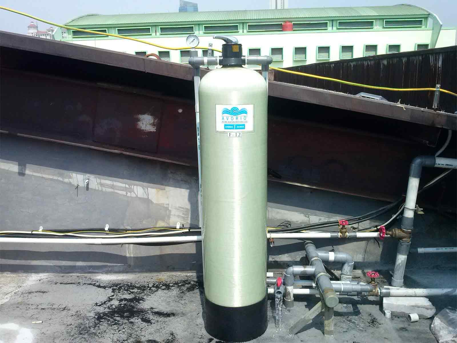 Proyek penjernih air komersial dan industri