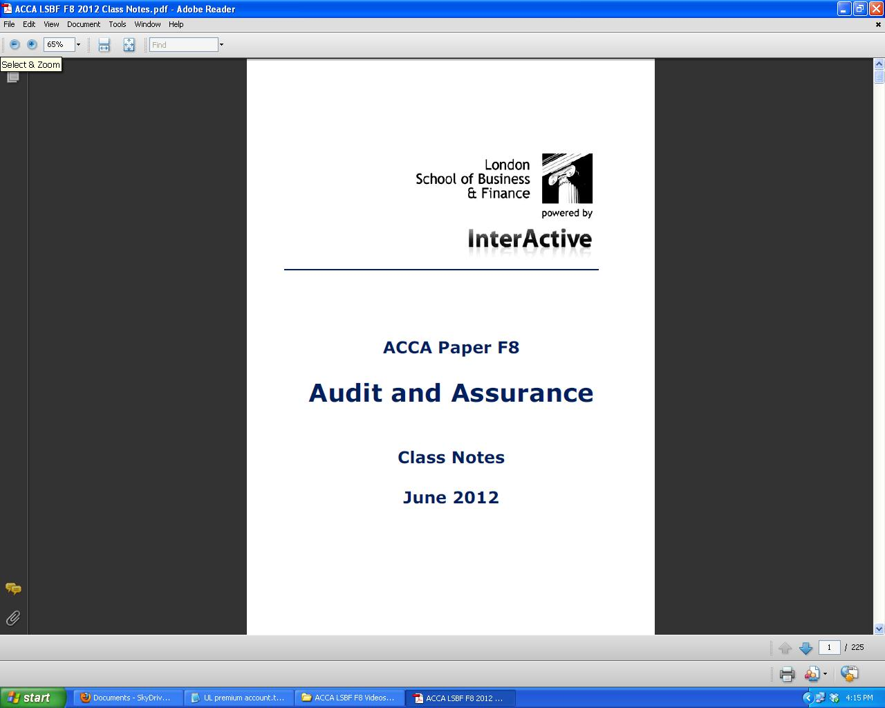 Acca lsbf review