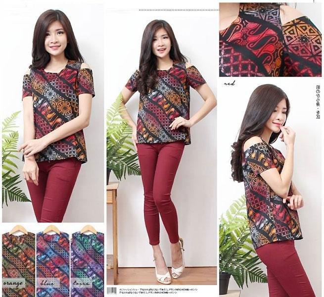 Jual Baju Batik Batik Blouse Samantha - 13496
