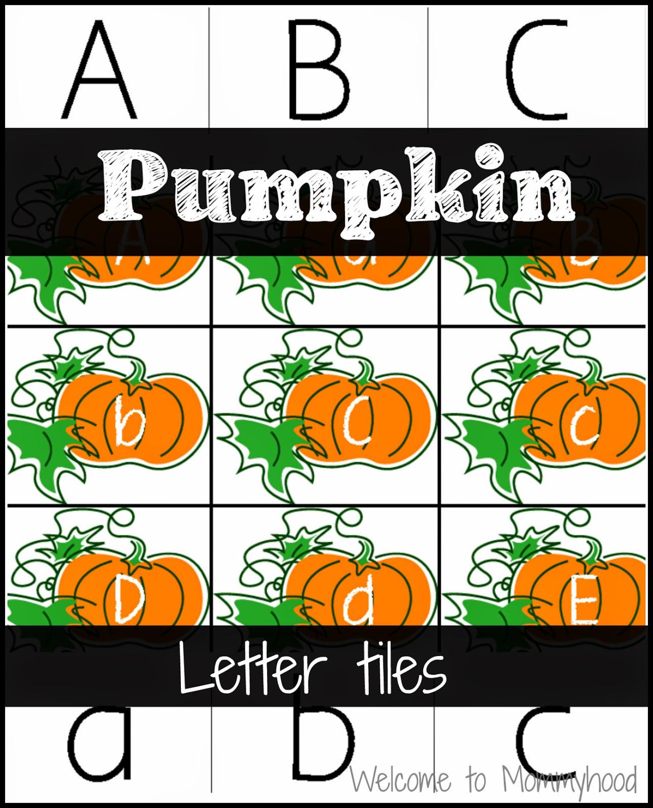 Pumpkin Letter Matching And Diy Letter Tiles