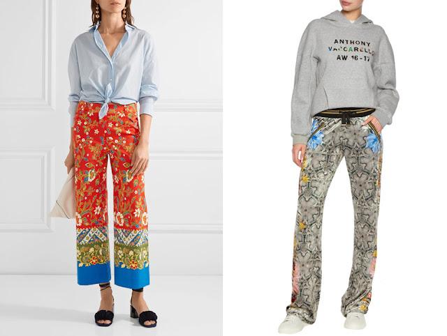 Пижамные брюки с голубой рубашкой и свитшотом