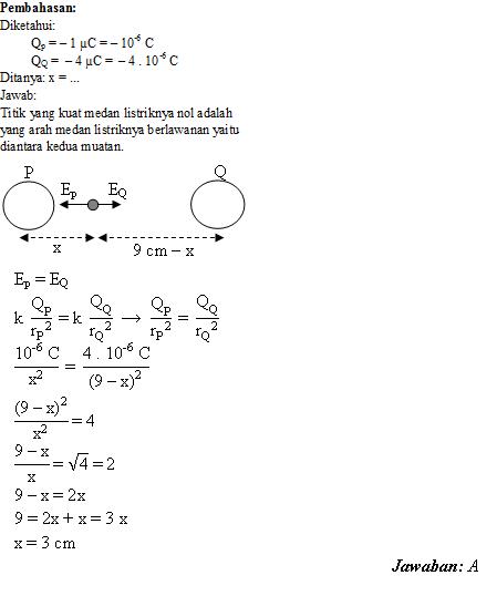 Soal Dan Jawaban Fisika Soal Dan Pembahasan Listrik Statis