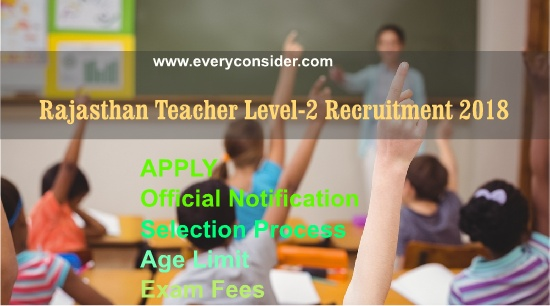 Rajasthan Teacher Level-2 Recruitment 2018