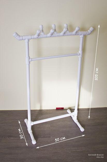 Diy buatan sendiri rak baju untuk anak dari bahan pipa pvc for Mueble pipas