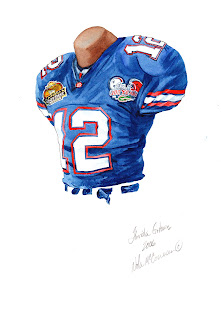 2006 University of Florida Gators football uniform original art for sale