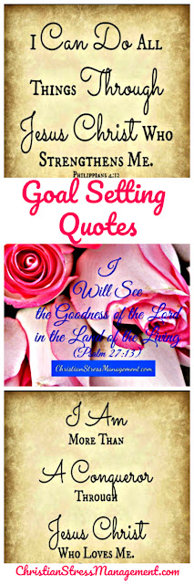 Goal setting quotes from the Bible to remember