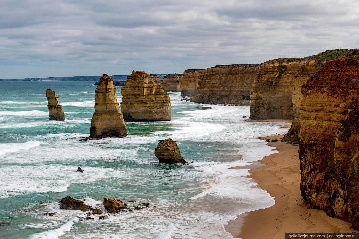 Исчезающая Достопримечательность Австралии: Скалы «Двенадцать апостолов»