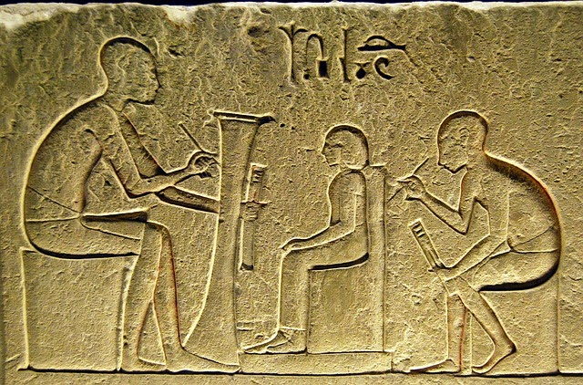 ancient egypt writing and art go hand