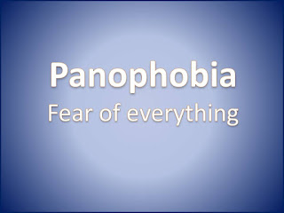 Panophobia, fear of everything