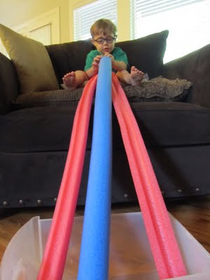 Pool Noodle Marble Run