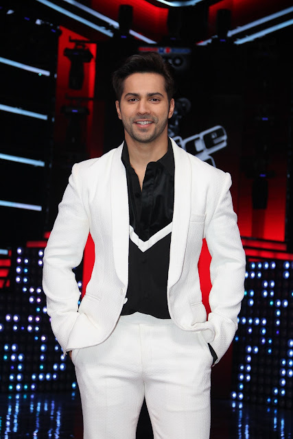 Varun Dhawan on the sets of &TV's The Voice India Season 2