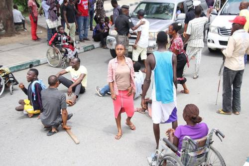 Physically Challenged Persons Shut Down Bayelsa Over Non-Inclusion in Civil Service
