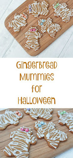 easy to make gingerbread mummies for a halloween party