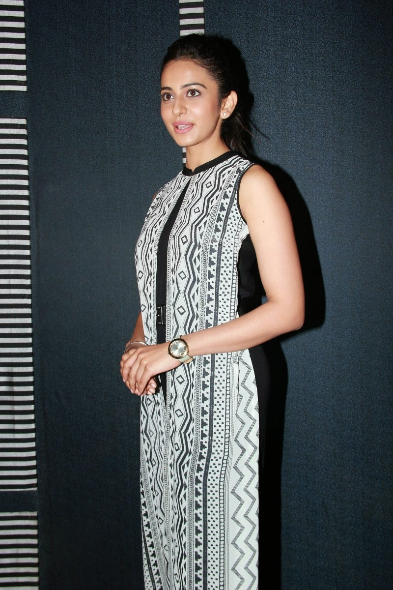 Beautiful Telugu Girl Rakul  Preet Singh Photos In Black Dress