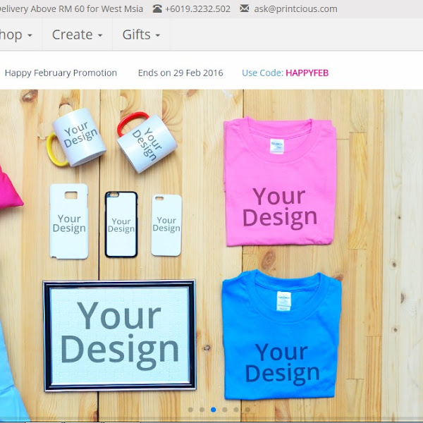 PRINTCIOUS, Customize Hadiah Menarik Buat Yang Tersayang
