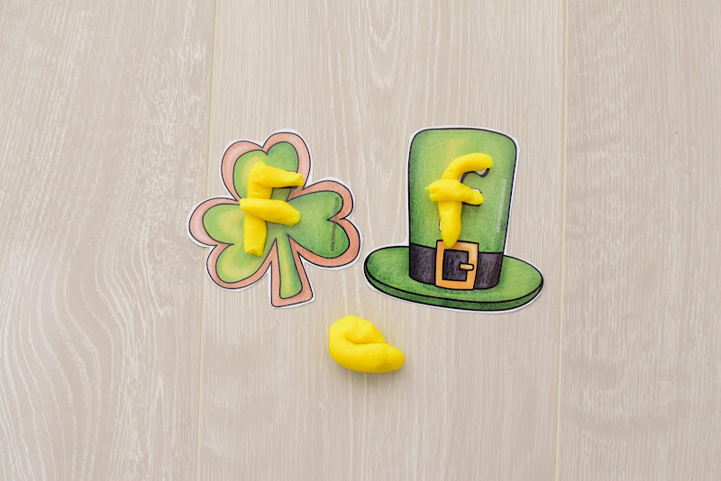 St. Patrick's Day DOUGH MATS FOR FORMING LETTERS