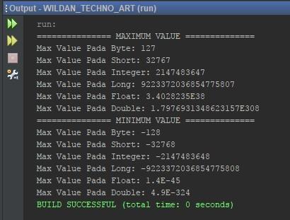 Melihat Jumlah Maximal serta Minimal pada Tipe Data Angka