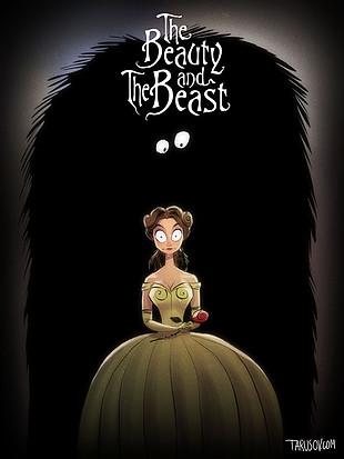 Los clásicos de Disney al estilo de Tim Burton: La bella y la bestia. Ver. Oír. Contar.