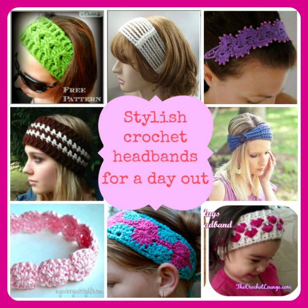 Stylish Crochet Headbands For A Day Out