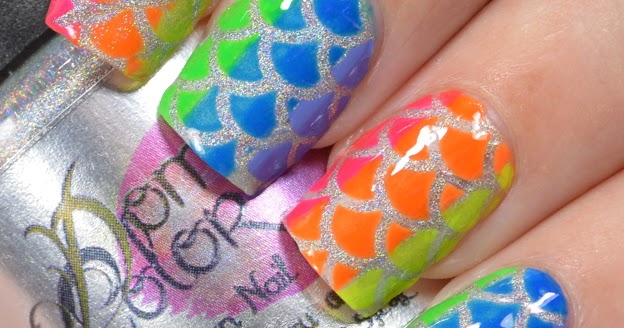 Rainbow Mermaid Nail Art Manna S Manis