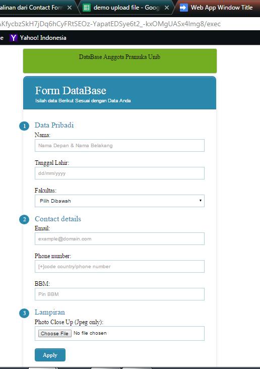 Form Upload File Google Drive Versi 2