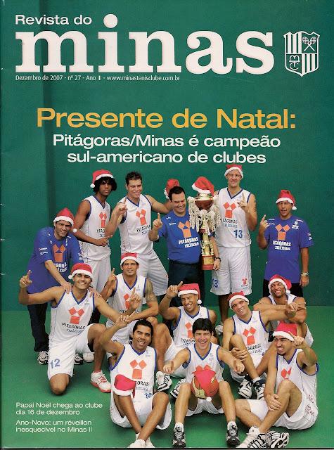 Revista do Minas de dezembro de 2007 fez especial do título [Reprodução/Minas]