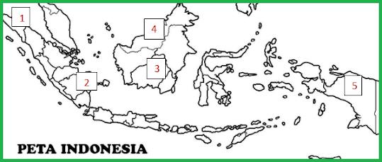 Provinsi di Indonesia yang mengalami kebakaran hutan terparah ditunjukkan oleh nomor