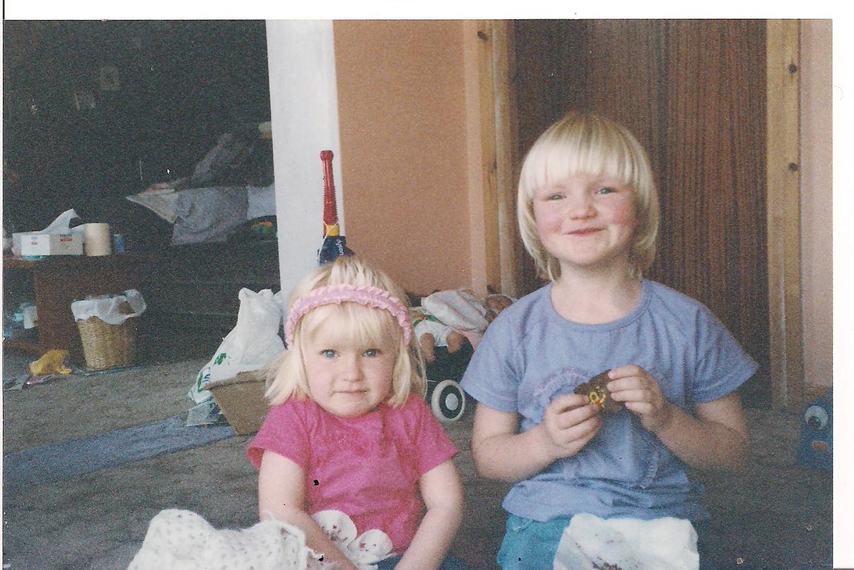 me and sister cake