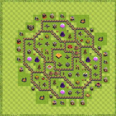 War Base Town Hall Level 9 By Michael Flodkvist (Test TH 9 Layout)