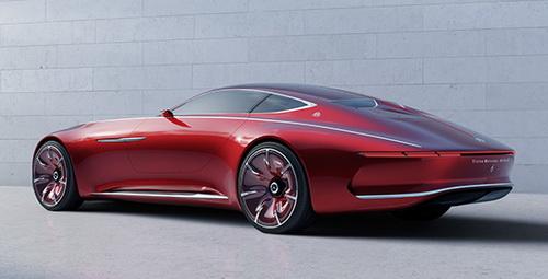 Info.Tinuku.com Desain Mobil Vision Mercedes-Maybach 6 Digitalisasi Sedan Klasik Mewah