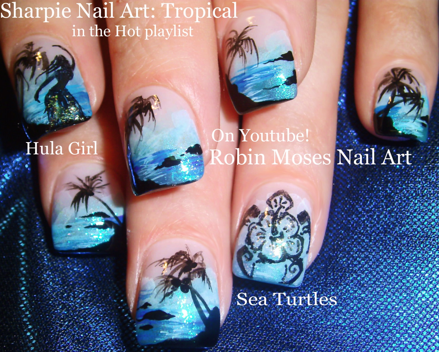 Nail Art By Robin Moses Is It Getting Hot In Here Or Is It Just
